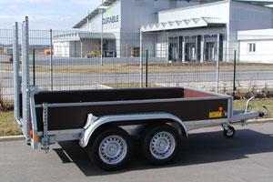 Anhänger für Maschinentransporte mit Luftbremsanlage