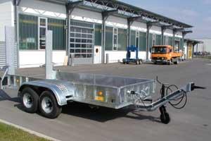 Tieflader Maschinentransporter absenkbar